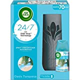 Air Wick Freshmatic Aparato y Recambio de Ambientador Spray Automático, Esencia para Casa con Aroma a Oasis Turquesa - 1 aparato + 1 recambio, Negro (3040036)