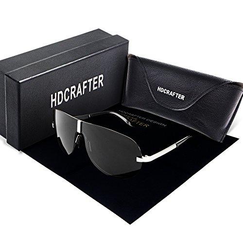 Mode Sport Style Sonnenbrille für Mann & Frauen, HDCRAFTER Polarisierte Sonnenbrille randlos UV400 Schutz