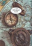 CreaForge Design Notizbuch A4 liniert: 140 Seiten mit Seitenzahlen & Register   XXL Notizheft Softcover glänzend mit Rand   Tagebuch   Journal   ... A4 liniert   Motiv: Kompass 'CFP-BA01'