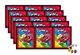 Panini Miraculous Ladybug Super Heroez Team Sticker – (15 bolsas de pegatinas) cada uno con 4 pegatinas + 1 tarjeta adhesiva & tarjeta Trading además 1 x surtido de frutas Sticker-und-co