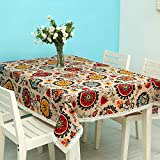 YOUYUANF Mantel Mantel Rectangular Mesa de Comedor El Mantel de Lana de Vidrio, Hecho de algodón, es Ideal para Uso Interno y Externo.140 x 140 cm