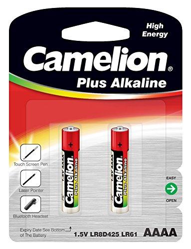 Camelion 11000261 Plus Alkaline Batterie, LR61/AAAA, 2er-Pack chrom
