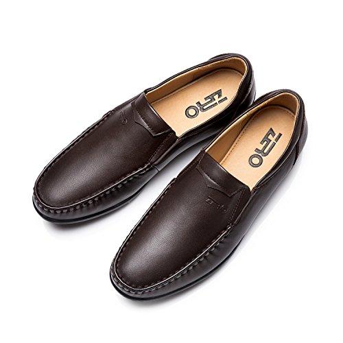 ZRO Mens's Slip On Casual Loafer Low Top Boat Shoe BLACK US 8.5