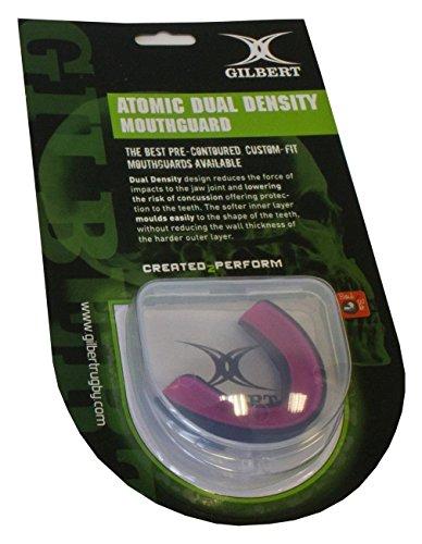 Gilbert Atomic Dual Density Mundschutz, Schwarz/Pink, S