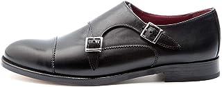 Zapatos de Doble Hebilla Estilo Monk Strap Negro de Mujer en Piel Beatnik June Black