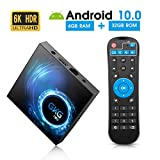 Android TV Box 10.0, GKG T95 TV Box 4GB RAM 32GB ROM Allwinner H616 Quad-core 64-bit Soporte 6K 3D WiFi 2.4GHz Android Box [2020 Versión]