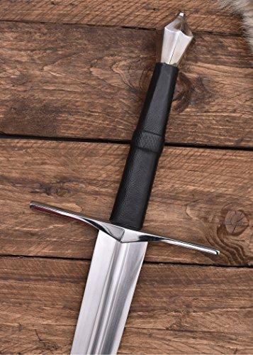 Zweihänder 114cm Kohlenstoffstahl Dekoschwert Mittelalter Schwert two handed sword - 4