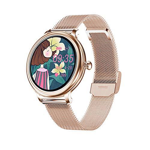 ZGZYL NY13 Damen Smart Uhr, Herzfrequenz Und Blutdruckuhr Physiologischer Monitor IP68 wasserdichte 2.5D LCD S Damen Martwatchpk NY12,B