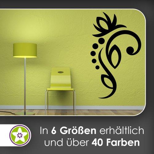Kiwistar Fleurs – Lignes Points Sticker Mural Sticker Mural Wall Stickers – 6 Tailles, 80_Braun, 80 x 47 cm