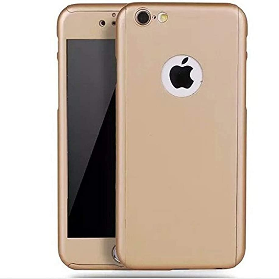 iPhone 6 Plus/6s Plus Full Body Hard Case-Aurora Gold Front and Back Cover with Tempered Glass Screen Protector for iPhone 6 Plus/6s Plus 5.5 Inch
