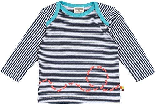 loud + proud loud + proud Unisex Baby T-Shirt, Ringel aus Bio, Blau (Ultramarin Ul), 68 (Herstellergröße: 62/68)