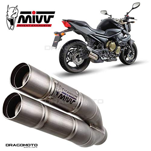 TUBO ESCAPE MIVV YAMAHA XJ6 / DIVERSION DOUBLE GUN TITANIO 2009 2010 2011 2012 2013 2014