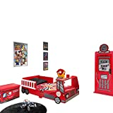 Vipack Toddler Fire Truck 70x140CM Rouge, MDF, 70 x 140 Centimeters