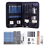 H & B Sketching Pencils Set, 40-Piece Drawing Pencils and Sketch Kit, Complete Artist Kit Includes Graphite Pencils,...