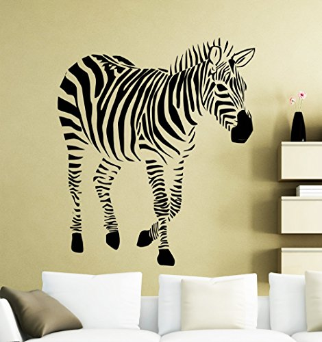 African Jungle Animals Wall Stickers Zebra Cool Silhouette Art Deisgned Vinyl Wall Murals Home Livingroom Special Decor Wm 57x70cm