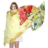 LORONA Bufanda para mujer con diseño de amapola de acuarela