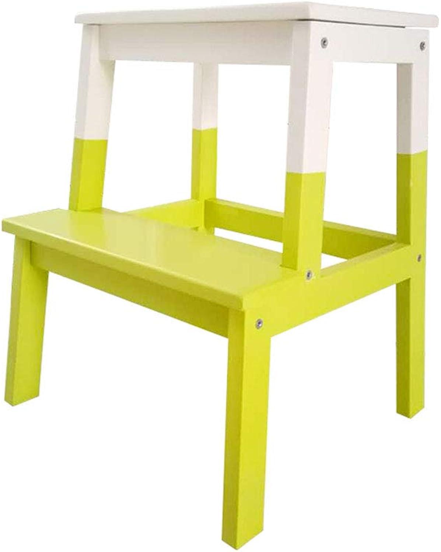 Wood Step Ladder Stool Portable Kids Adults Footstool for Bathroom Kitchen Livingroom(42.5  40  50cm)