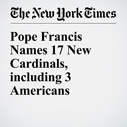 Pope Francis Names 17 New Cardinals, including 3 Americans audiobook cover art