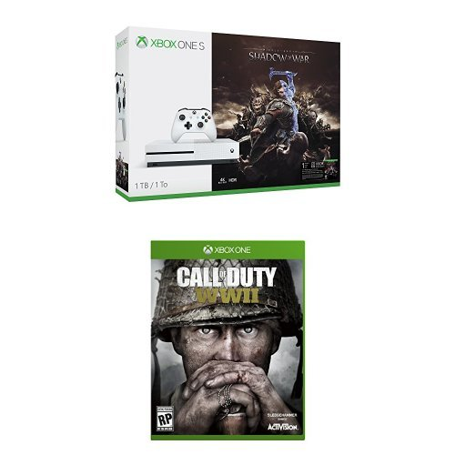 Xbox One S 1TB Shadow of War Bundle + Call of Duty: WWII