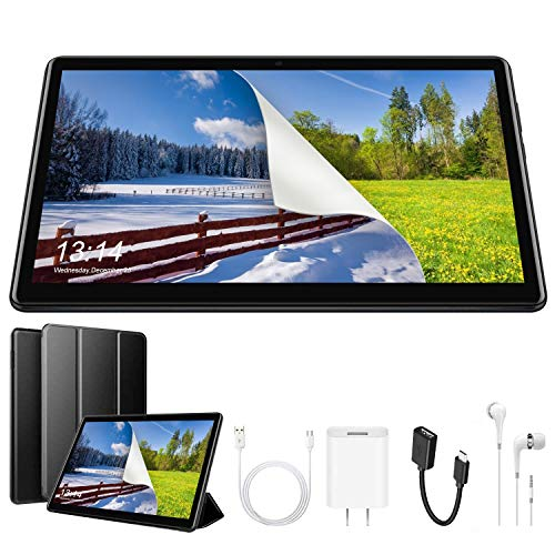 Tablet 10 Pulgadas 4G Full HD, 32GB ROM/64GB, 4G/WiFi/OTG (Soporte: Netflix) Android 9.0 Tablet PC Quad-Core 8500mAh Dual SIM 8MP Cámara 3GB de RAM Bluetooth/GPS