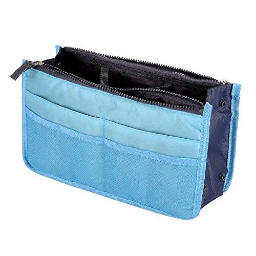 HooAMI Draagbare multifunctionele handtas tas opbergtas in tas organisator invoegen organisator Tidy Travel cosmetische zak