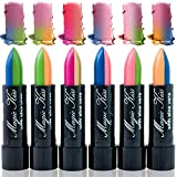 Pack of 6 Magic Kiss Color Changing Matte Lipstick set, Long Lasting Nutritious Lips Moisturizer Magic Temperature Color Change Lip Balm with Aloe Vera PH Lipstick Beauty Cosmetics Makeup MADE IN USA