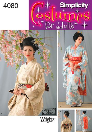 Simplicity Women's Japanese Geisha Costume Sewing Pattern, Sizes 14-20