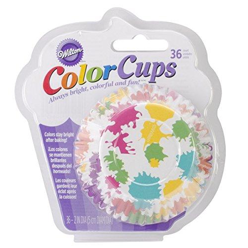 Wilton 36-Pack Color Baking Cup, Standard, Paint Rainbow