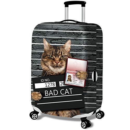 Elastisch Kofferhülle Kofferschutzhülle Gepäck Cover Reisekoffer Hülle Kofferschutz mit Reißverschluss Katze Serie...