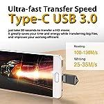 KEXIN-128GB-Chiavetta-USB-C-30-OTG-Pen-Drive-Tipo-C-Chiavette-Memoria-USB-Pennetta-Impermeabile-unita-USB-Flash-Type-C-Penna-Stick-Metallo-Pennette-USB-per-USB-C-Smartphone-Tablet-PC-Car-TV-Nero