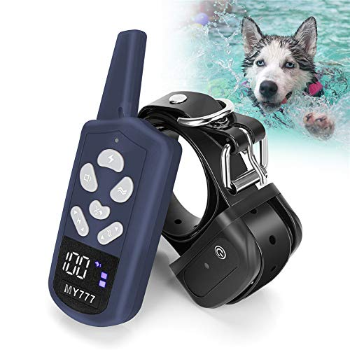 Dog Training Collar - E Collar for Dogs with 3 Training Modes Including Beep and Vibration,Training Collar with Remote Up to 1800ft Range,1-100 Adjustable Training Levels for Large,Medium,Small Dogs