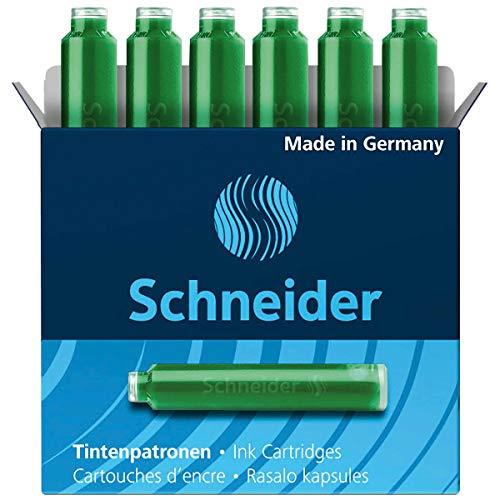 Schneider Cartuchos de Tinta estándar para en cortador y muchos otros, Verde, 6