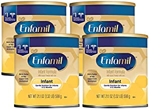 Enfamil Infant Formula - Milk-based Baby Formula with Iron - Powder Can, 21.1 Ounce (Pack of 4)