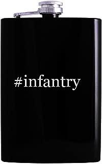 #infantry - 8oz Hashtag Hip Alcohol Drinking Flask, Black