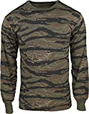 Army Universe Tiger Stripe Camouflage Long Sleeve Military T-Shirt Pin - Size Large (41'-45')