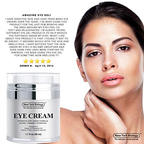 5142GmFZhsL - Eye Cream Moisturizer for Dark Circles, Fine Lines, Puffiness and Wrinkles Under the Eyes – Intensive Anti Aging Formula with Provitamin A and B5, Vitamin C and E – 1.7 fl oz (50ml)