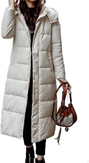EnergyWD Womens with Pocket Plus-Size Hooded Casual Buckle Cotton-Padded Jacket