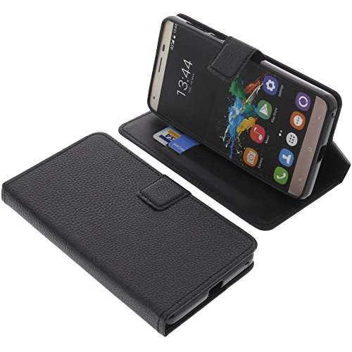 foto-kontor Tasche für Oukitel K6000 Pro Book Style schwarz Schutz Hülle Buch