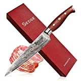 Sedge Slicing Knife - Japanese Damascus AUS-10V High Carbon Steel -...