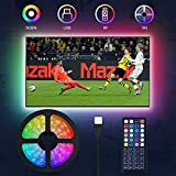TV LED Lights, MustWin TV Backlights 3M LED Strip RGBW for 32'-60' TV USB Powered with RF-Remote Control...
