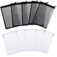 FILTER BAGS SIZE: each bag measures approx. 15 x 20 cm/ 6 x 7.9 inches, mesh hole is approx. 2 mm/ 0.08 inch in size, general size for you to use QUALITY MATERIAL: the aquarium filter bag made of high quality Nylon and Plastic Zipper, durable and cor...