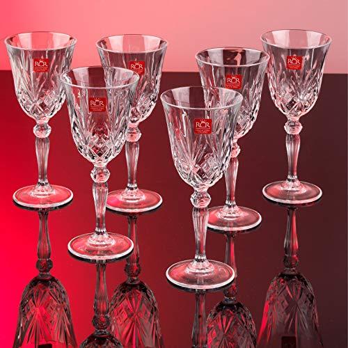 RCR 25601020006 Melodia Kristall-Weingläser, 210 ml, 6er-Set, Glas, CLAR, Einheitsgröße