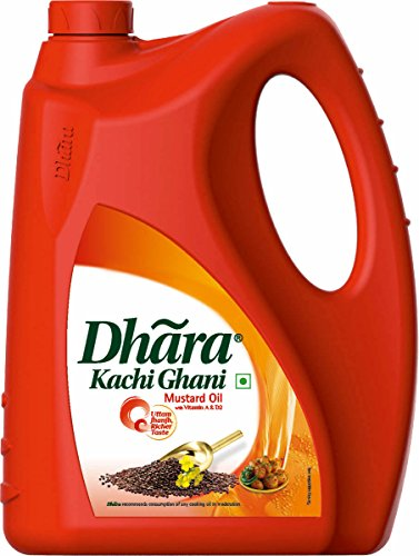 Dhara Kachi Ghani Mustard Oil Jar, 5L