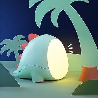 AVEKI - Luz nocturna LED para niños, diseño de dinosaurio, para dormir y dormir en la noche, acompaña regularmente la luz ...