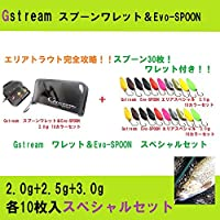 スプーン30枚入り!トラウト完全攻略! Gstreamスプーンワレット&Evo-SPOON 2.0g+2.5g+3.0g 各10枚入スペシャルセット(gstreamset-01)