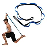 TAKSON Stretching Strap with Loops- Leg Stretch Band to Improve Flexibility Stretching out Yoga Strap Exercise and Physical Therapy Belt for Rehab, Pilates and Gymnastics with Workout Guide Book
