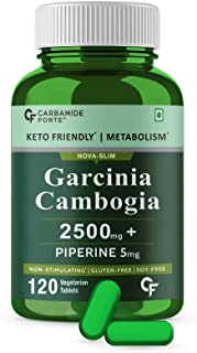 Carbamide Forte GarciniaCambogia 2500mg with 60% HCA Per Serving – 120 Tablets