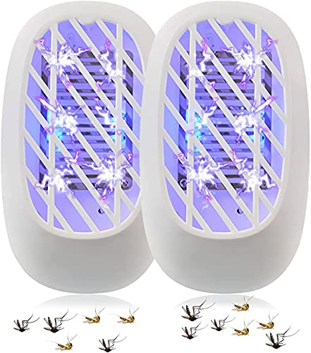 Elektrischer Insektenvernichter, UV-Insektenfalle, Mückenlampe, Fliegenfalle, keine giftige Mückenvernichterlampe, für Fliegen, Mücken, Motten, Küche, für Schlafzimmer, Indoor (2er Pack)