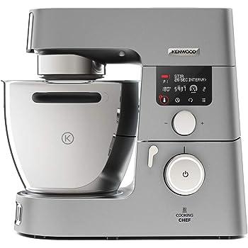 Kenwood Cooking Chef Gourmet KCC9060S Robot Pâtissier Multifonction Cuiseur avec Induction 20–180 °C et Bol de 6,7 L, 1500 W, Argent