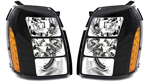 For Cadillac Escalade Headlight 2007 2008 2009 2010 2011 2012 2013 2014 Driver Left And Passenger Right Side Driver and Passenger Side Headlamp Replacement